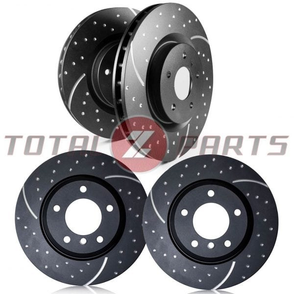 EBC GD Dimpled/Slotted FRONT & REAR Brake Rotors for 350Z, G35 (w/Brembo Brakes)