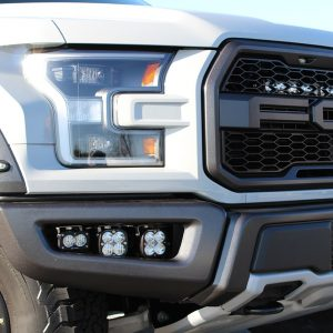 Baja Designs Ford Raptor LED Unlimited Fog Light kit with brackets, hardware and wiring. Ultra bright off road.