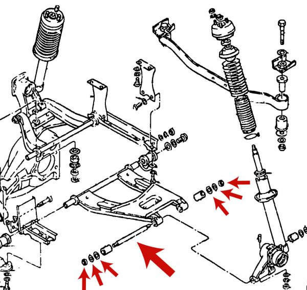 datsun 240z 260z 280z rear suspension spindle rod  pin kit  1970