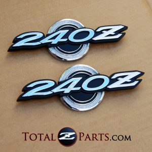 Datsun 240z Series 1 Roof Pillar/Quarter Emblems 1970-71 *NOS*