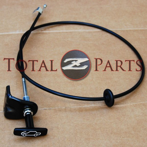 Datsun 240Z Hood Release Cable Knob Assembly, 1970-1973 *NOS*