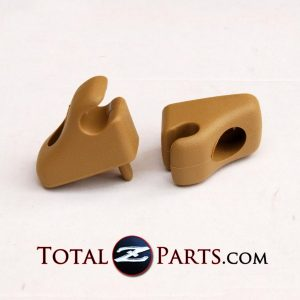 Datsun 280ZX Tan Brown Sunvisor Holders/Clips *NEW, OEM*