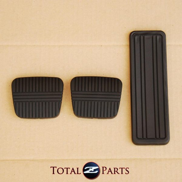 Gas Brake Clutch Pedal Pads Set, for Nissan 300ZX (Z31), 12/86-1989, MT *NOS*