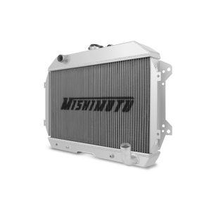 MISHIMOTO Datsun 240Z 260Z Polished Aluminum Performance Radiator, 1970-1975