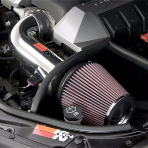 K&N Typhoon Polished Cold Air Intake for 2010-2014 Chevy Camaro 6.2L V8, +18HP
