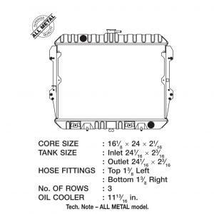 Datsun 280ZX High Quality Brass Metal 3-Row Replacement Radiator, Black, 1979-1983