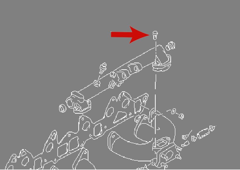 datsun 240z carburetor balance tube 5mm bolts set  nos
