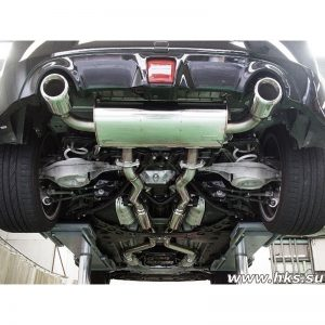"HKS Legamax Premium Exhaust w/Mid Pipes, 4.5"" Dual Tips, 2009-2015 Nissan 370Z"