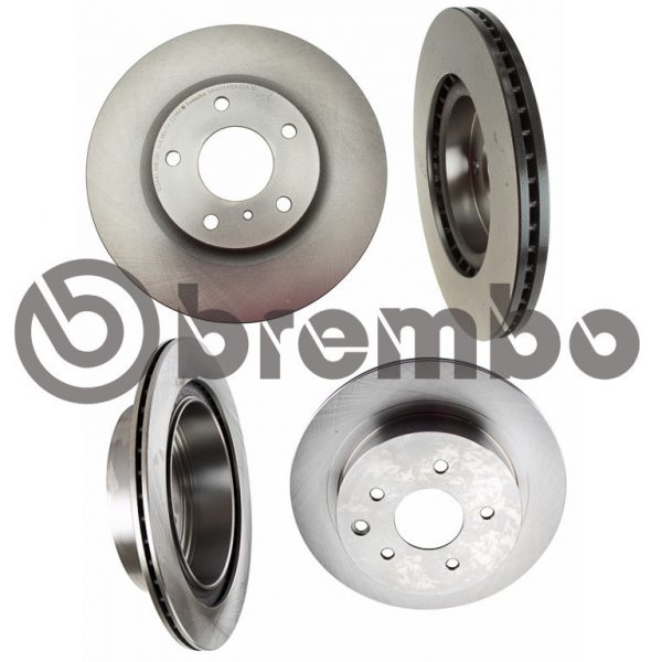 BREMBO Front & Rear Replacement Brake Rotors for 03-05 Nissan 350Z, Infiniti G35 (Standard Brakes Only)
