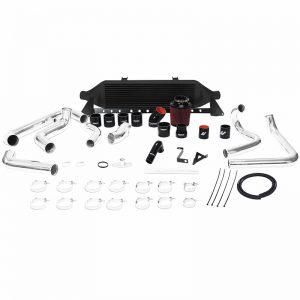 MISHIMOTO Front-Mount BLACK Turbo Intercooler Kit w/Intake for 2008-2014 Subaru WRX