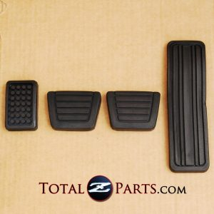 Datsun 240Z 260Z 280ZX Gas Clutch Brake Foot Rest Pedal Pads Set *NEW, OEM*