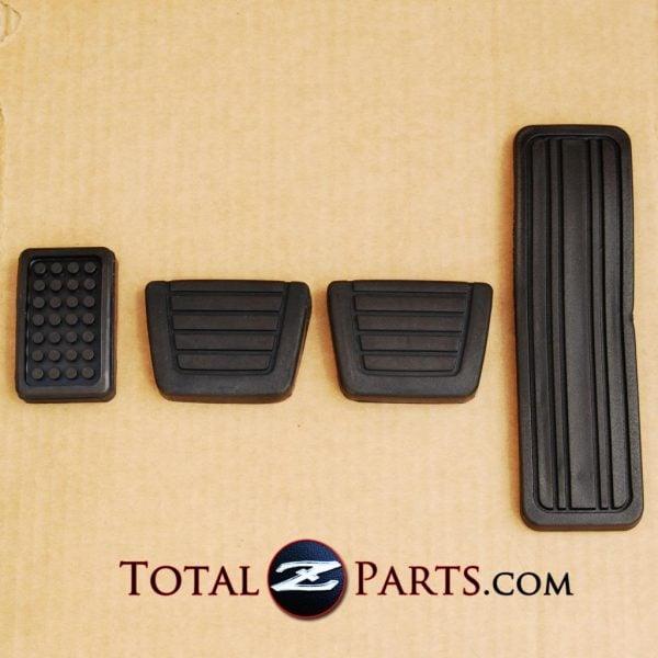 Datsun 240Z 260Z 280ZX Gas Clutch Brake Foot Rest Pedal Pads Set *NEW, OEM*