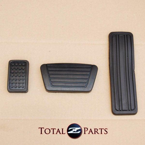 Datsun 240z 260z 280z Gas Brake Foot Rest Pedal Pads Set, Automatic *NEW, OEM*