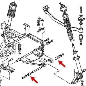 Datsun 240z 260z 280z Rear Suspension Spindle Outer Control Arm Bushings *NOS*