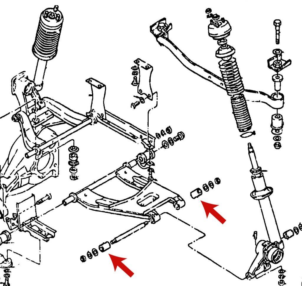 datsun 240z 260z 280z rear suspension spindle outer