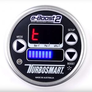 Turbosmart eBoost2 EBC Electronic Turbo Boost Controller Gauge, 60mm (Silver Rim)