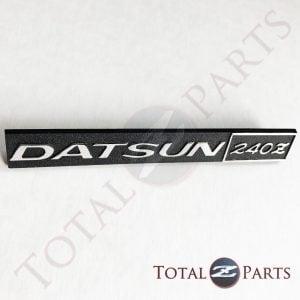 Datsun 240Z Chrome Plastic Dash Dashboard Glovebox Emblem, Reproduction NEW