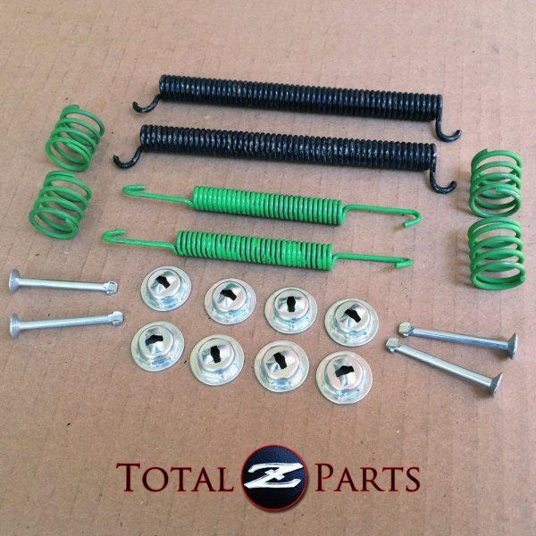 Datsun 240Z 260Z 280Z Rear Drum Brake Hardware Springs Set, LH & RH, 70-76 *NEW*