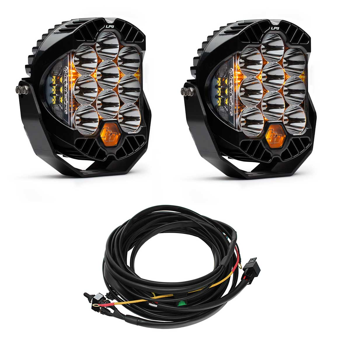 Totalzparts Baja Designs Pair Lp9 Pro Led Spot Lights Harness Kit Fog Light