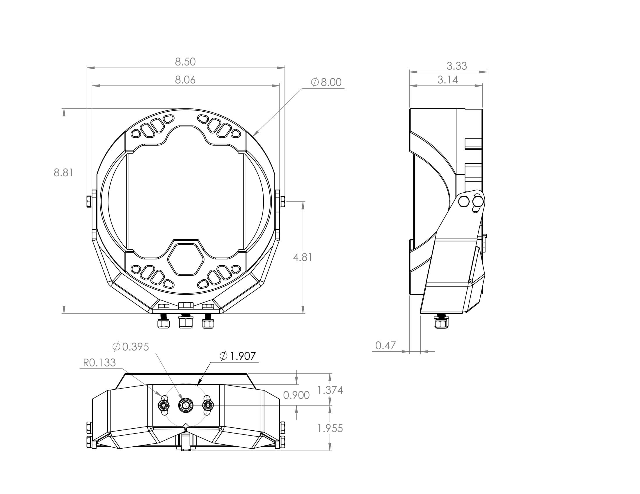 Totalzparts Baja Designs Lp9 Sport Led Driving Combo Light 350003 Nissan Datsun 300zx Turbo Exhaust Diagram Category