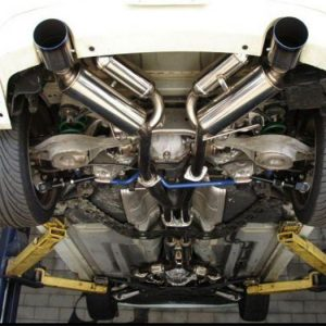 HKS 32009-BN002 Dual Catback Exhaust, for 03-06 Infiniti G35 Coupe