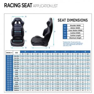 NRG Innovations FRP-301 Racing Seat, Large