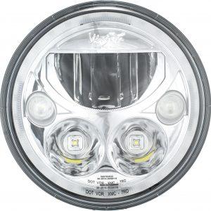 "Vision X® 9891224 - 7"" Round Chrome Vortex Halo LED Headlights"