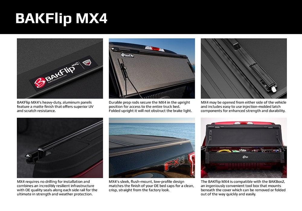 Bakflip Mx4 Hard Folding Tonneau Cover 16 19 Tacoma 5ft Bed