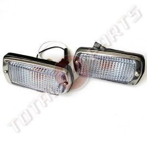 Datsun 240Z 260Z 280Z Clear White Side Marker Lights Set, 70-78