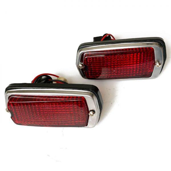 Datsun 240Z 260Z 280Z Red Side Marker Lights Set, 70-78