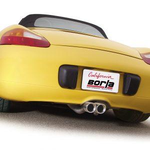 BORLA S-Type Dual Center Exhaust, 00-04 Porsche Boxster