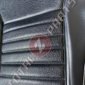 Datsun 240Z Reproduction Seat Covers w/Foam Cushions, Black Vinyl