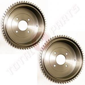 Datsun 240Z 260Z 280Z Rear Brake Drums Set, Left & Right