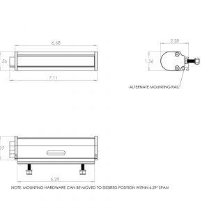 "Baja Designs® RTL-M™ 6"" Light Bar 100601"