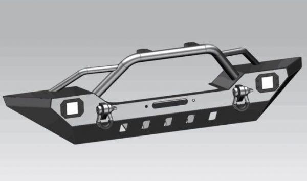 ProMaxx Black Front Bumper, 18+ Jeep Wrangler