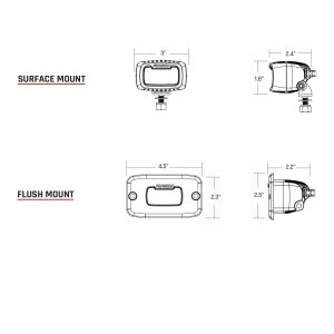 RIGID SR-M PRO Flood Diffused LED Backup Light Kit