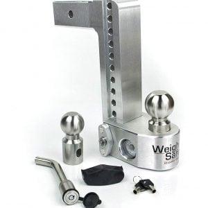 "Weigh Safe 10"" Drop Hitch, 2.5"" Shank, w/Key Lock & Hitch Pin"
