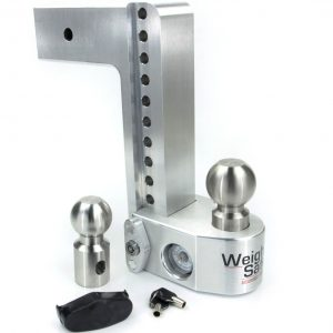 "Weigh Safe 10"" Drop Hitch, 3"" Shank, w/Key Lock & Hitch Pin"