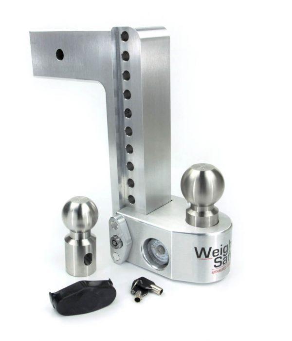 "Weigh Safe 10"" Drop Hitch, 3"" Shank, w/Key Lock & Hitch Pin"