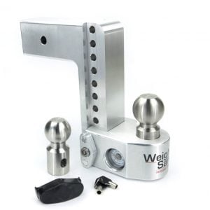 "Weigh Safe 8"" Drop Hitch, 3"" Shank, w/Key Lock & Hitch Pin"
