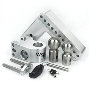 "Weigh Safe 8"" Drop Hitch, 3"" Shank, w/Key Lock & Hitch Pin"