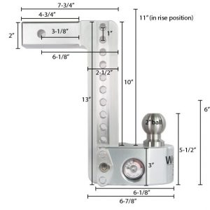 "Weigh Safe 10"" Drop Hitch, 2"" Shank, w/Key Lock & Hitch Pin"