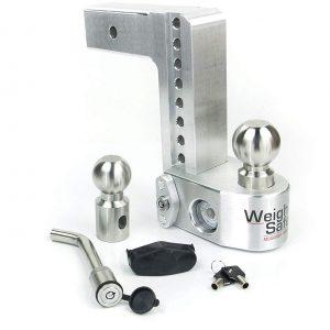 "Weigh Safe 6"" Drop Hitch, 2.5"" Shank, w/Key Lock & Hitch Pin"