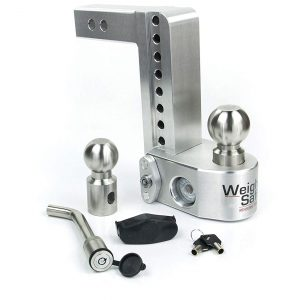 "Weigh Safe 8"" Drop Hitch, 2"" Shank, w/Key Lock & Hitch Pin"