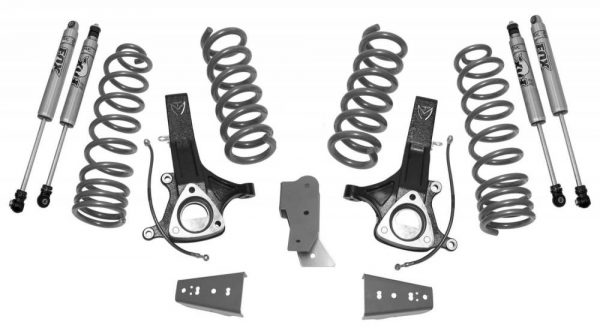 "Maxtrac Suspension™ 7"" Lift Kit, Fox Shocks, 09-18 RAM 1500 2WD 5.7"