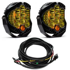 Baja Designs® LP9 Pro™ Pair Amber LED Driving/Combo Lights & Harness Kit