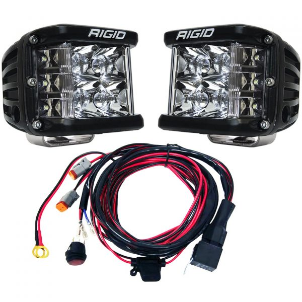 Rigid Industries® D-SS Pro Spot LED Light Pods Pair with Harness