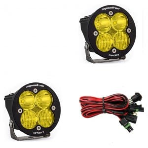 Baja Designs® Squadron-R Sport™ Pair Driving Combo Amber LED Lights