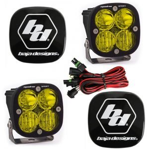 Baja Designs® Squadron Sport™ LED Pair Amber Driving/Combo Lights & Rock Guards