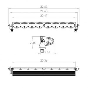 """Baja Designs® S8™ 20"""" Driving/Combo LED Light Bar with Harness"""